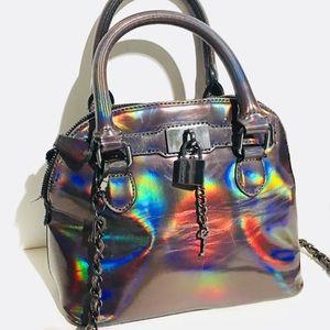 Eye-catching iridescent Aldo handbag